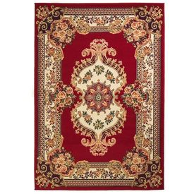 vidaXL Covor persan, design oriental, 120 x 170 cm, roșu/bej
