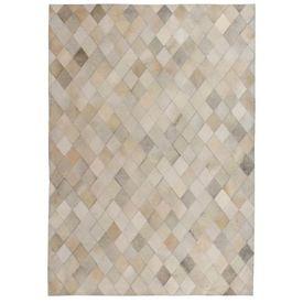vidaXL Covor piele naturală, mozaic, 120x170 cm Romburi Gri