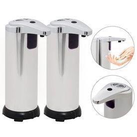 vidaXL Dozator de săpun automat 2 buc, senzor cu infraroșu, 600 ml