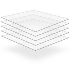 vidaXL Plăci din sticlă acrilică transparentă, 5 buc., 40x60 cm, 6 mm
