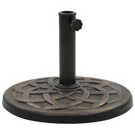 vidaXL Suport umbrelă de soare, bronz, 11 kg, polirășină, rotund