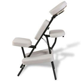 Scaun pliabil pentru masaj Alb