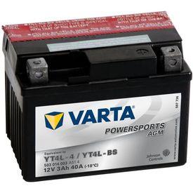 Baterie Varta pentru motocicletă Powersports AGM YT4L-4 / YT4L-BS