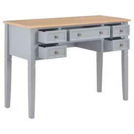 Birou de scris, gri, 109,5 x 45 x 77,5 cm, lemn