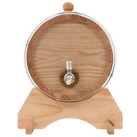 Butoi de vin cu canea, stejar masiv, 6 L