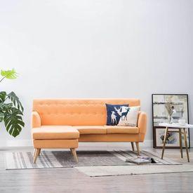 Canapea formă L, textil, 171,5 x 138 x 81,5 cm, portocaliu