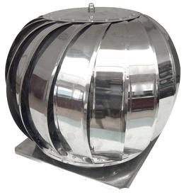 Capac Terminal Rotativ Cos de Fum Inox cu Talpa Bg 200mm - 651816