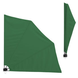 [casa.pro]® Umbrela de soare montabila pe perete - Paravan solar de perete verde