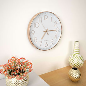 Ceas de perete, auriu rose, 30 cm