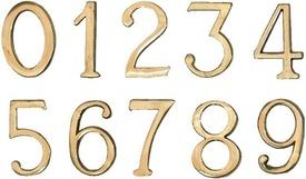"""Cifre Autoadezive din Plastic pt Usa de Apartament """"9""""  - 10 buc"""