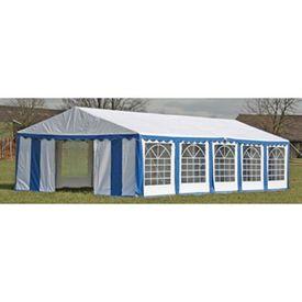 Copertină + pereți laterali pavilion petrecere 10 x 5 m, Albastru/ Alb