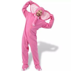 Costum de carnaval elefant, roz, mărimea M-L