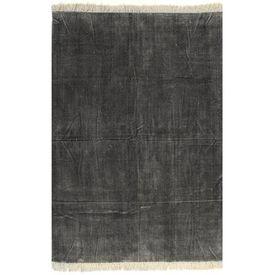 Covor Kilim, antracit, 200 x 290 cm, bumbac