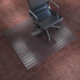 Covor scaun/protecție podea, bambus, 110 x 130 cm, maro