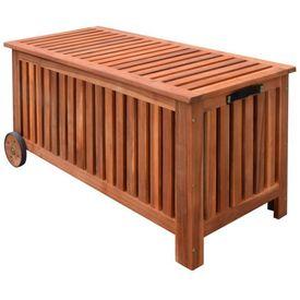 Cufăr pentru perne din lemn 118x52x58 cm