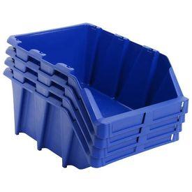 Cutii depozitare stivuibile, 35 buc, 218x360x156 mm, albastru