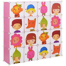 Dulap copii - dulap depozitare model roz - DIY sistem asamblare raft