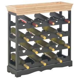 Dulap de vinuri, negru, 70 x 22,5 x 70,5 cm, MDF