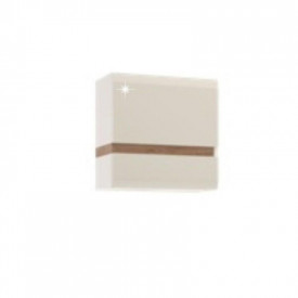 Dulap suspendabil alb extra luciu ridica HG/stejar sonoma inchis la culoare truflu GL LYNATET TYP 66