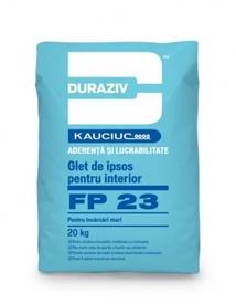 DURAZIV FP 23 glet de ipsos pentru interior, pentru încărcări mari, aditivat cu Kauciuc - 20 KG