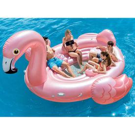 Intex Saltea de piscină, Flamingo Party Island, 57267EU