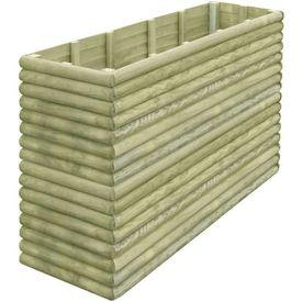 Jardinieră din lemn de pin tratat pentru grădină 197x56x96 cm