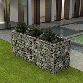 Jardinieră gabion din oțel, 270 x 90 x 100 cm