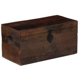 Ladă depozitare, 80x40x40 cm, lemn masiv reciclat din traverse