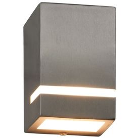 Lămpi de perete de exterior 2 buc. argintiu 35 W dreptunghiular