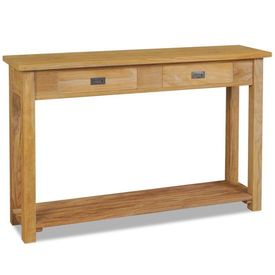 Masă consolă din lemn masiv de tec, 120 x 30 x 80 cm