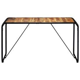Masă de bucătărie, 140x70x76 cm, lemn masiv de mango nefinisat