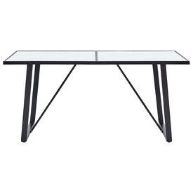 Masă de bucătărie, alb, 160 x 80 x 75 cm, sticlă securizată