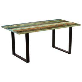 Masă de bucătărie, lemn masiv reciclat, 180 x 90 x 77 cm