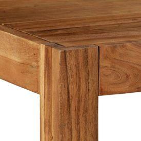 Masă de bucătărie, maro, 120x60x78 cm, lemn masiv de acacia