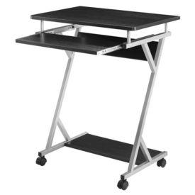 Masa pentru calculator AACT-7901, 60 x 40 x 75 cm, PAL/otel sinterizat, negru