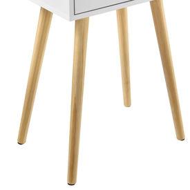 Masuta Vera cu sertar, 60 x 40 x 29,5 cm, PAL, 10Kg, patrata, alb