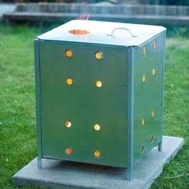 Nature Incinerator de grădină, 46x46x65 cm, oțel galvanizat, 6070463