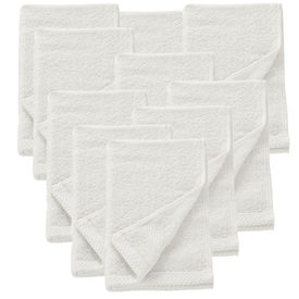 [neu.haus]® Set 10 prosoape frottir HTHT-1007, 30 x 50 cm, bumbac, alb