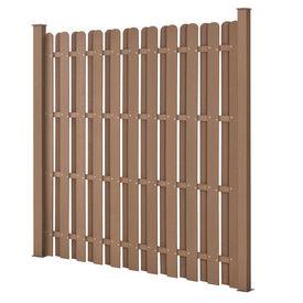 [neu.holz] Gard gradina AAWP-991x WPC, 185 x 193 cm, lemn/plastic, maro