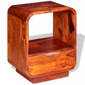 Noptieră cu sertar, lemn masiv de sheesham, 40 x 30 x 50 cm
