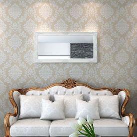 Oglindă verticală în stil baroc 120 x 60 cm alb