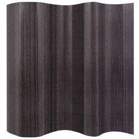 Paravan de cameră din bambus, gri, 250 x 195 cm