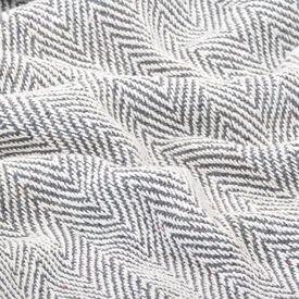 Pătură decorativă model spic, bumbac, 125 x 150 cm, gri