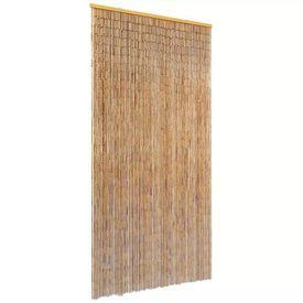 Perdea de ușă pentru insecte, bambus, 90x220 cm