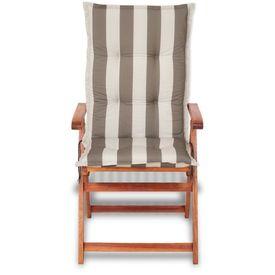 Perne pentru scaune de grădină 120 x 52 cm, dungi gri, 2 buc.