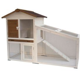 @Pet Cușcă pentru iepuri Tommy Alb și maro 140 x 65 x 100 cm 20072