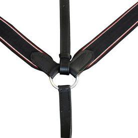 Pieptar elastic reglabil cu martingală, piele, maro