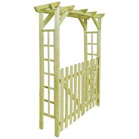 Poartă de gard pergolă/arcadă din lemn tratat, 150x50x200 cm