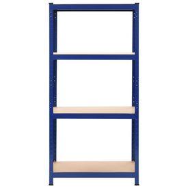 Raft de depozitare, albastru, 80x40x160 cm, oțel și MDF