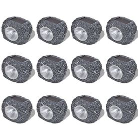 Reflector solar LED în formă de piatră 12 buc